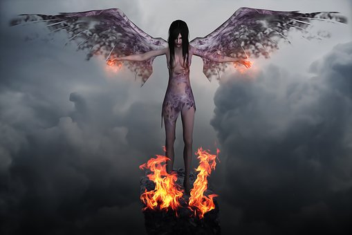 Angel, Dark, Dark Angel, Evil, Demon, Female, Woman