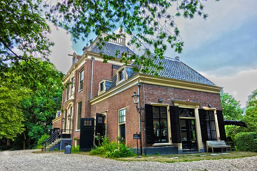 Building, Manor, Mansion, Estate, Eighteenth Century