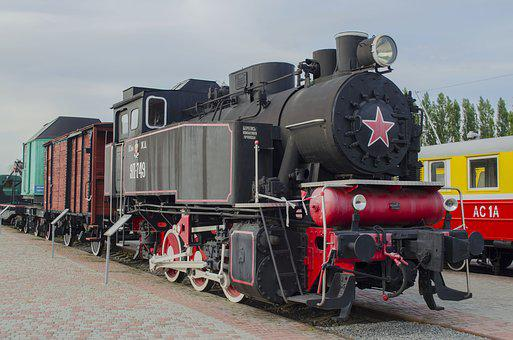 Steam Locomotive, Vintage, Boiler, Exhibit, Museum