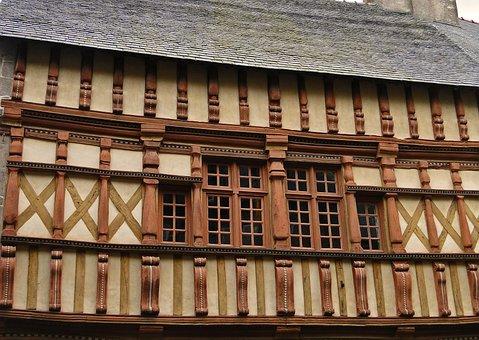 Facade, Old Houses, House, House Facade, France, Former