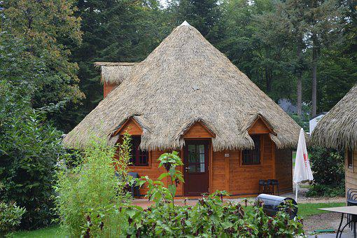 Hut, Small Cabin, Made Of Wood, Earth, Straw, Holiday