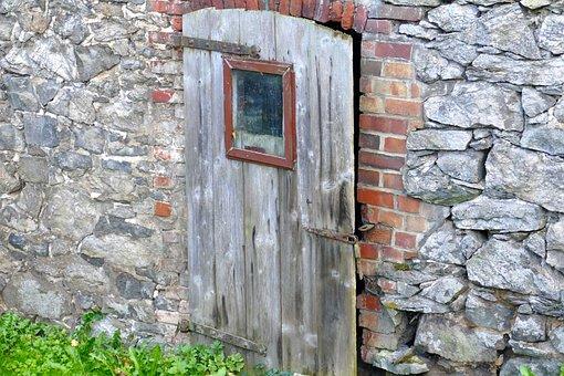 Door, Old, Wall, Stone, Masonry, Original, Beautiful