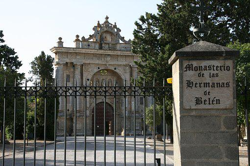 Monastery, Monks, Cloister, Arches, Church, Monument