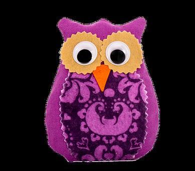 Lavender, Owl, Mov, Big Eyes