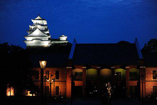 Himeji Castle, Evening, Museum, Night View