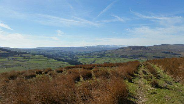 View From Kip Law Over Alston Moor, North Pennines