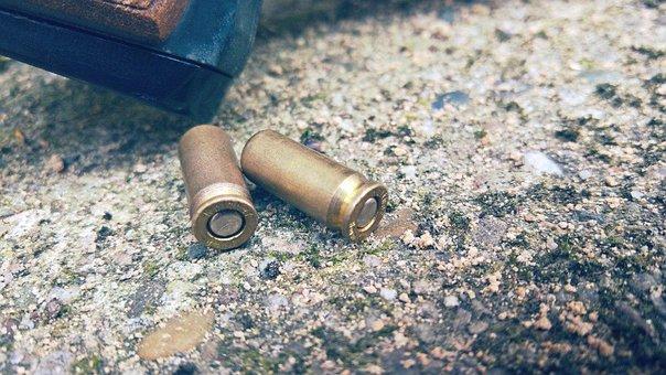 Cartridge, Sleeves, Weapon, Floor, Metal, Pistol