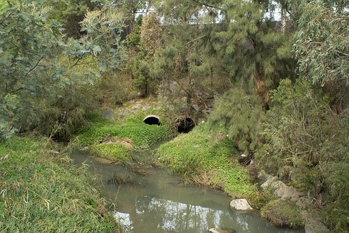 River, Tunnels, Nature, Landscape, Stream, Water