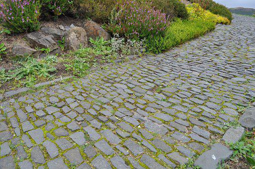 Cobblestone, Path, Scotland, Edinburgh, Sidewalk