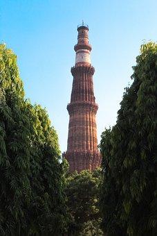 India, Monument, Qutubminar, Travel, Tourism, Landmark
