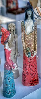 Pottery, Figures, Ladies, Art, Unusual, Greece