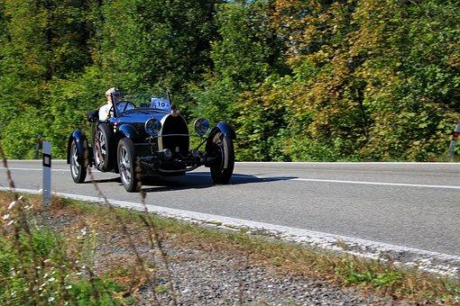 Car, Bugatti, Racing Car, Veteran, Vehicle, Automobile