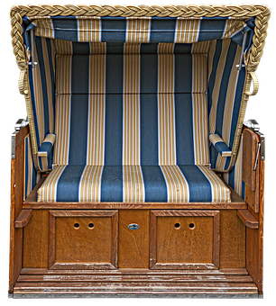 Beach Chair, Seating Furniture, Wicker, Wooden Frame