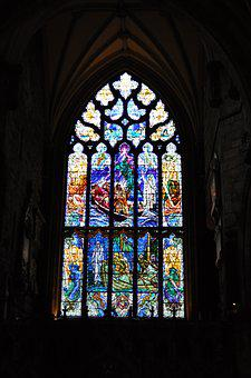 Stained, Glass, Window, Stained Glass Window, Church