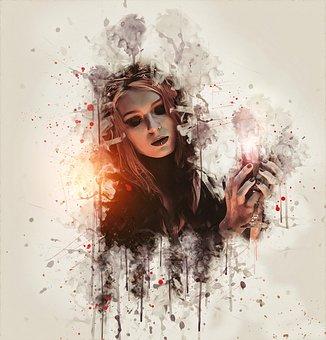 Witch, Gothic, Goth, Dark, Fantasy, Woman, Female