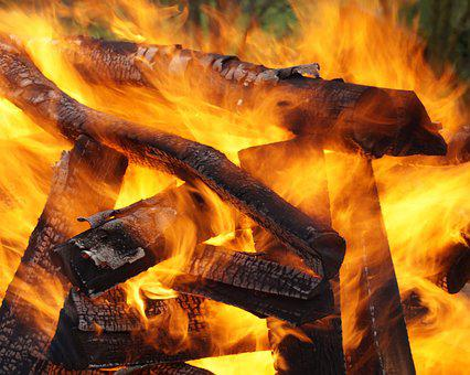 Embers, Fire, Hot, Wood, Beech Wood, Potato Fire