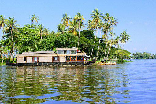 Alleppey, Houseboat, Boat Hou, Kerala, Boat, Nature