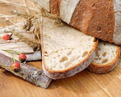 Bread, Bread Crust, Crispy, Baked, Fresh, Cut