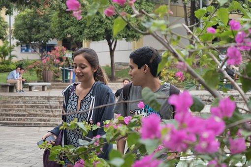 Flores, Estudiantes, Campus, Students, Flowers