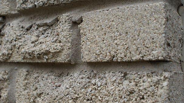 Wall, Concrete, Bricks, Texture, Pattern, Stone, Gray