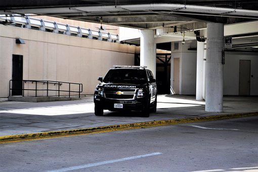 Houston Texas Police Car, Hobby Airport, Suv