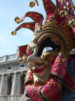 Italy, Venezia, Mask, Carnival, Jingle Bells, Colors