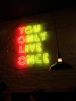 Yolo, Life, Neon, Letters On