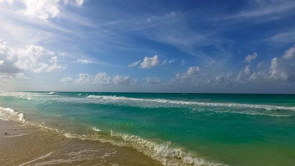 Cuba, Ocean, Beach, Sunny, Atlantic, The Coast, Water