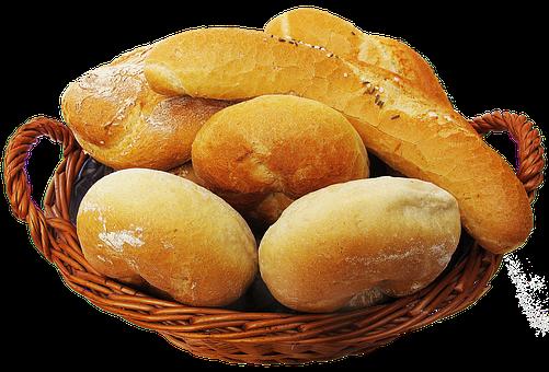 Basket, Bread Basket, Roll, Food, Staple Food, Baguette