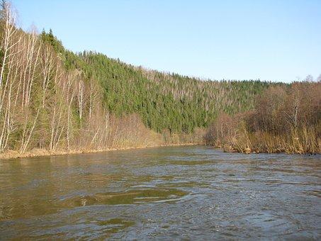 The River Vijay, Perm Krai, Sky, Russia, Silence