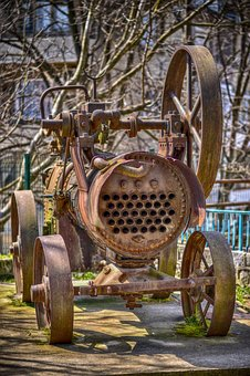 Heavy Machinery, Old, Rust, Machinery, Heavy, Industry