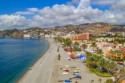 Almunecar, Spain, Beach, Sea, Mediterranean Sea, Europe