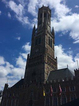 Europe, Tower, Belgium, Travel, Architecture, City