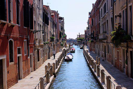 Venice, Channel, Water, Italy, Old Town, Holiday