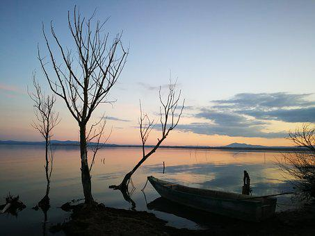 Lake, Water, Fishing, Fisherman, Umbria, Lake Trasimeno