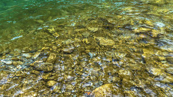 Water, Bank, Stones, Wave, Alpine, Clear, Cold