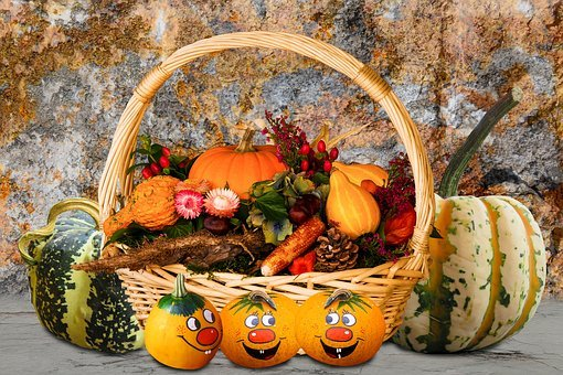 Time Of Year, Autumn, Autumn Beginning, Pumpkins