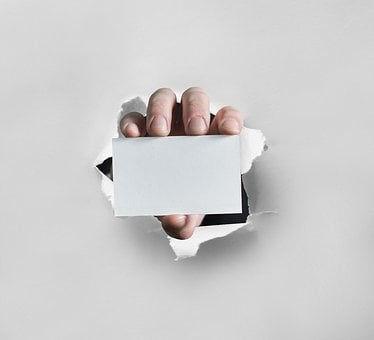 Business Card, Hand, Business, Card, White, Blank
