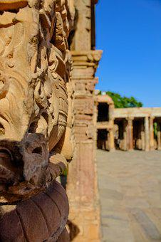 Sclupture, India, Art, Temple, Building, Card, Carving