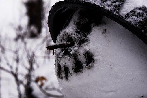 Snowman, Face, Funny, Coal, Smile, Winter, Figure