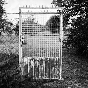 Rustic, Gate, Fence, Iron, Rural, County, Old, Door