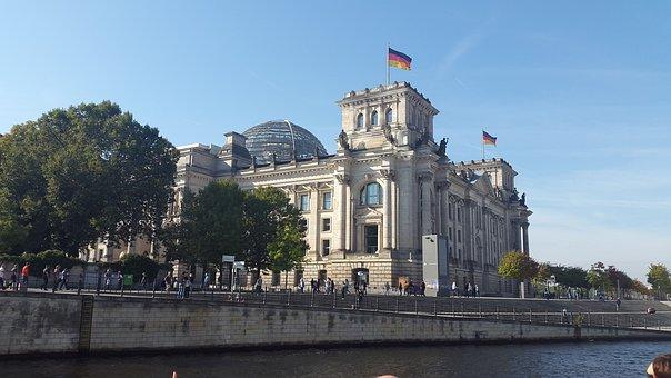 Berlin, Bundestag, Spree, Berlin Government, Germany