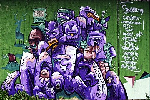 Graffiti, Painting, Urban, Artwork, Image, Painted Wall
