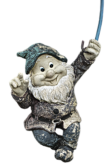 Garden Gnome, Dwarf, Imp, Hanging, Fabric, Funny
