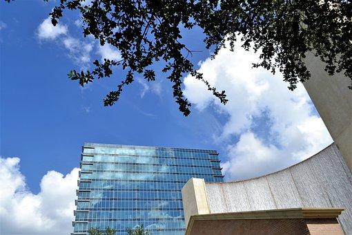 Houston Texas, Skyscraper, Downtown, Houston, Mirror