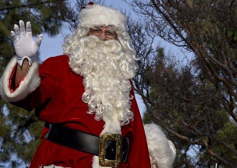 Santa, Parade, Wave, Jolly, St Nick, Santa Clause