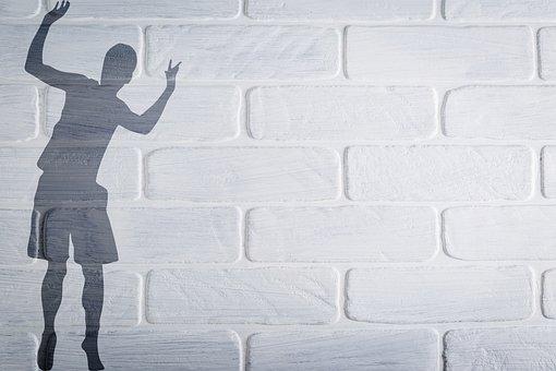 Boy, Shadow, Silhouette, Wall, Brick Wall, Child, Kid