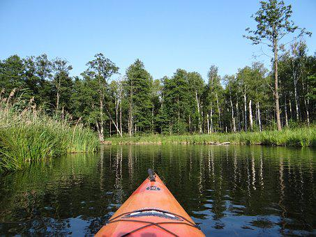 Krutynia, Canoe Trip, River, Peace Of Mind, Landscape