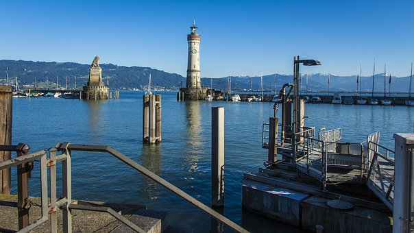 Port Of Lindau, Landmark, Lighthouse, Lake Constance
