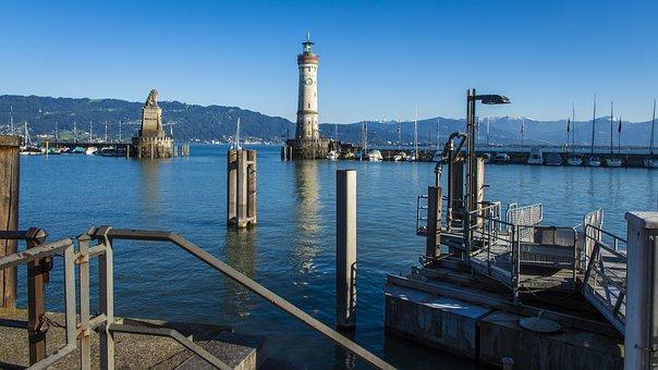 Port Of Lindau, Landmark, Lighthouse, Lake Constance